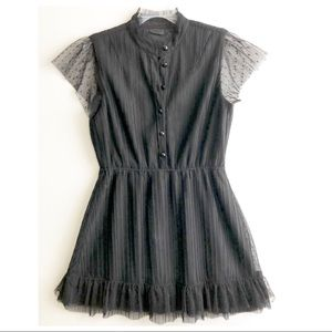 Anna Sui for Target Swiss Dot Crinkle Pleat Dress